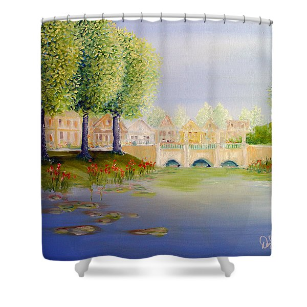 Streets Of Celebration Shower Curtain by David Kacey