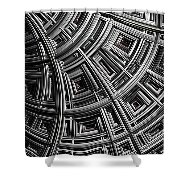 Structure Shower Curtain by John Edwards