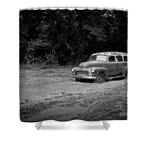 Stuck in the Mud Shower Curtain by Edward Fielding