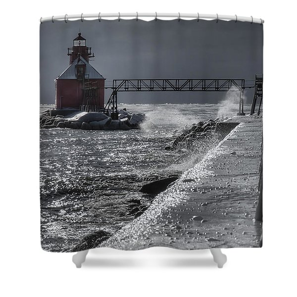Sturgeon Bay After The Storm Shower Curtain by Joan Carroll
