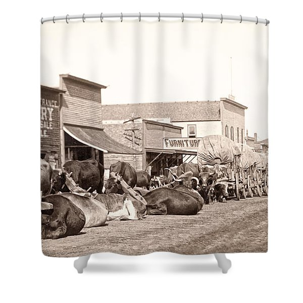 STURGIS SOUTH DAKOTA c. 1890 Shower Curtain by Daniel Hagerman