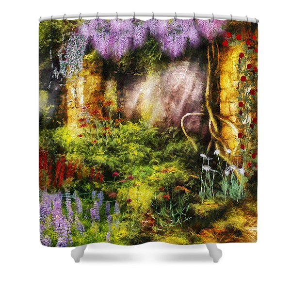 Summer - I Found The Lost Temple Shower Curtain by Mike Savad