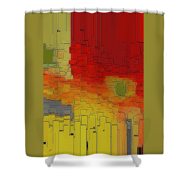 Summer In The Big City - Fantasy Cityscape Shower Curtain by Ben and Raisa Gertsberg
