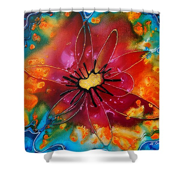 Summer Queen Shower Curtain by Sharon Cummings