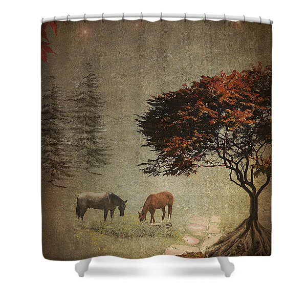 Summers End Shower Curtain by Terry Fleckney