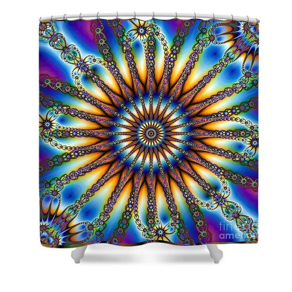 Sun Wheel 2 Shower Curtain by Elizabeth McTaggart
