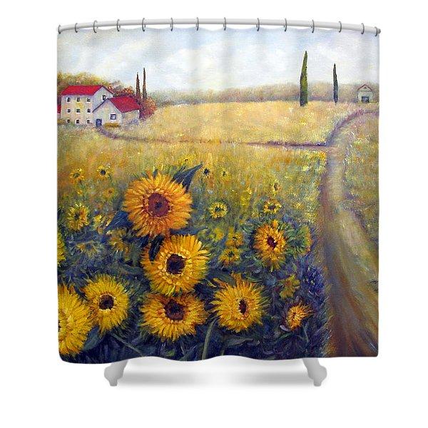 Sunflowers Shower Curtain by Loretta Luglio
