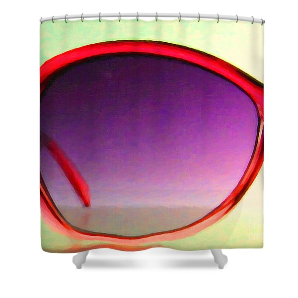 Sunglass - 5D20678 - v1 Shower Curtain by Wingsdomain Art and Photography