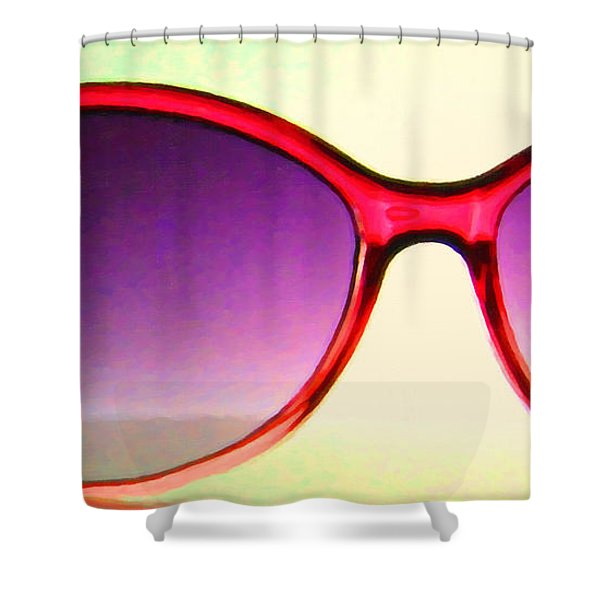 Sunglass - 5D20678 - v2 Shower Curtain by Wingsdomain Art and Photography