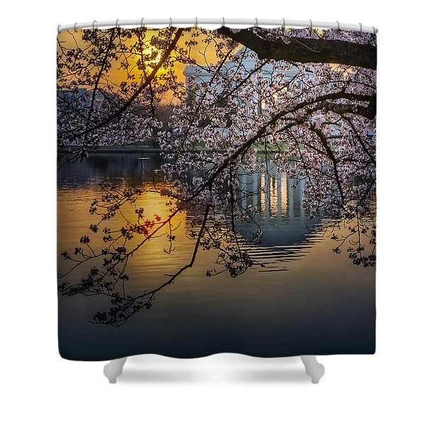 Sunrise At The Thomas Jefferson Memorial Shower Curtain by Susan Candelario