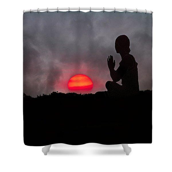 Sunrise Prayer Shower Curtain by Betsy C  Knapp