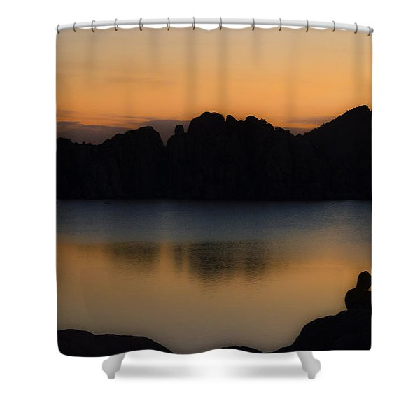 Sunrise Solitude Shower Curtain by Dave Dilli