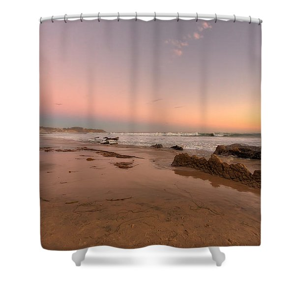 Sunset At Crystal Cove Hdr Shower Curtain by Angela A Stanton