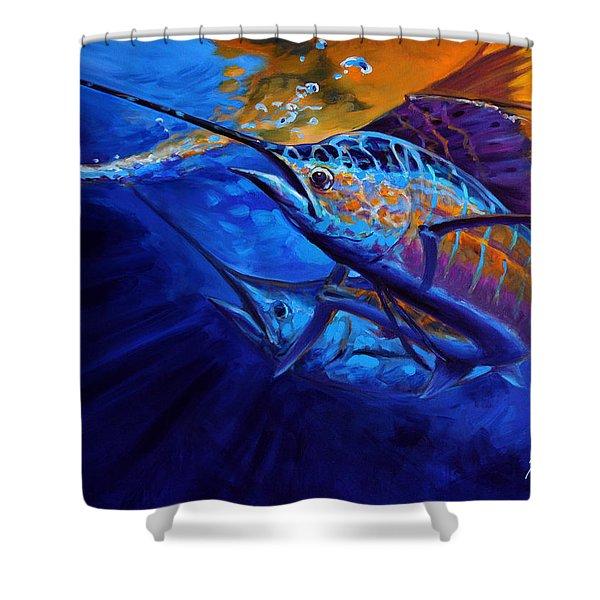 Sunset Bite Shower Curtain by Mike Savlen