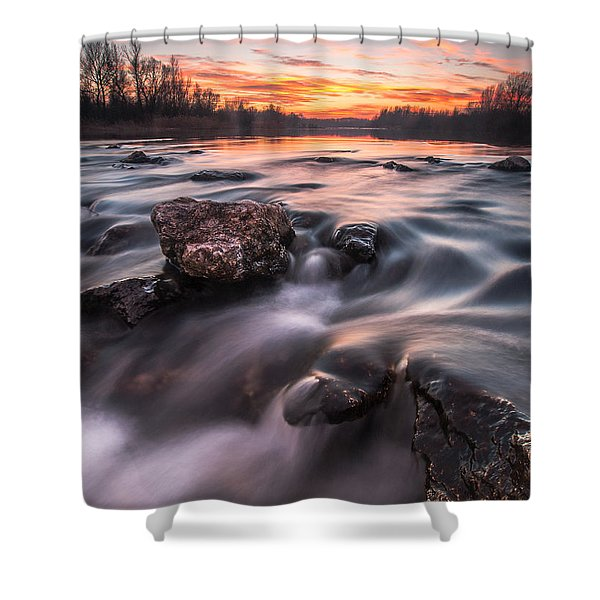 Sunset Shower Curtain by Davorin Mance
