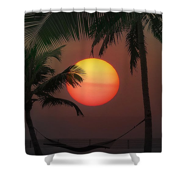 Sunset In The Keys Shower Curtain by Bill Cannon