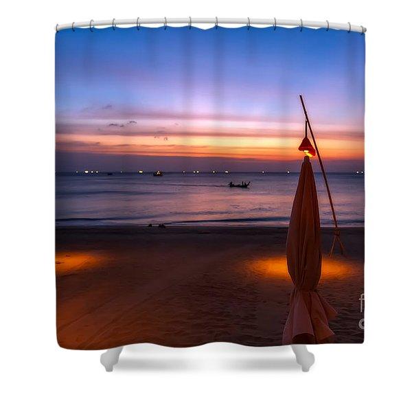 Sunset Lanta Island  Shower Curtain by Adrian Evans
