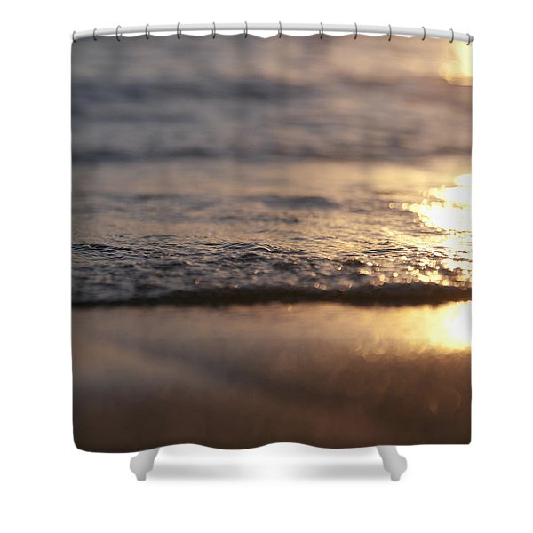 Sunset Shore Shower Curtain by Brandon Tabiolo