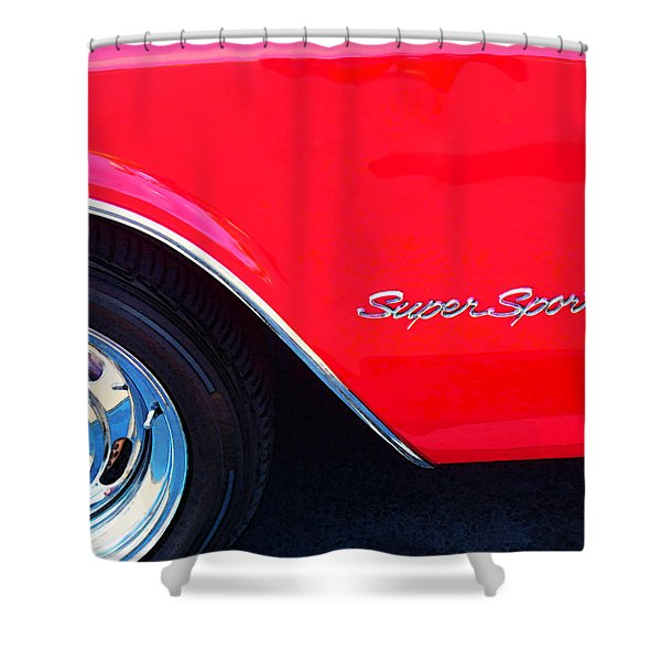 Super Sport - Chevy Impala Classic Car Shower Curtain by Sharon Cummings