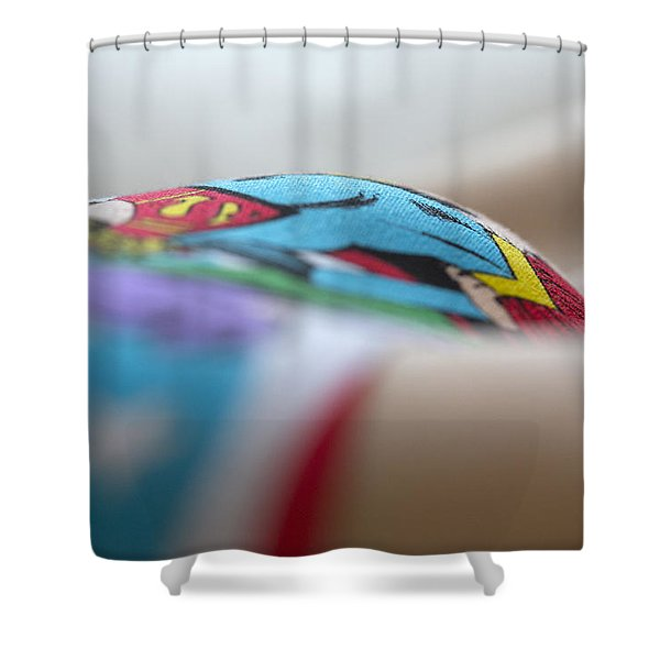 Supergirl Shower Curtain by David Hare