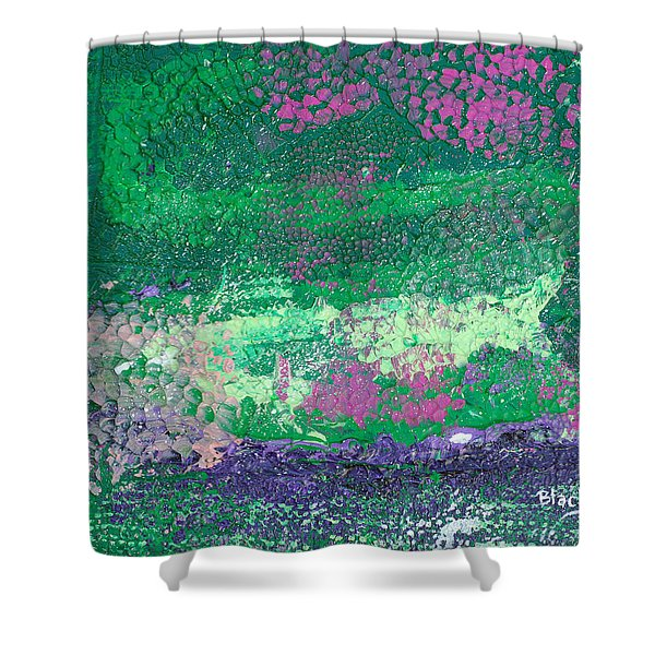 Surrounded By The Garden Shower Curtain by Donna Blackhall