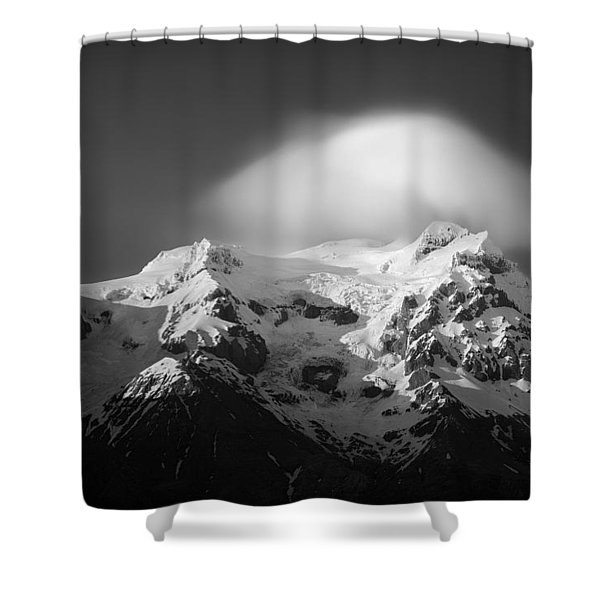 Svinafell Mountains Shower Curtain by Dave Bowman