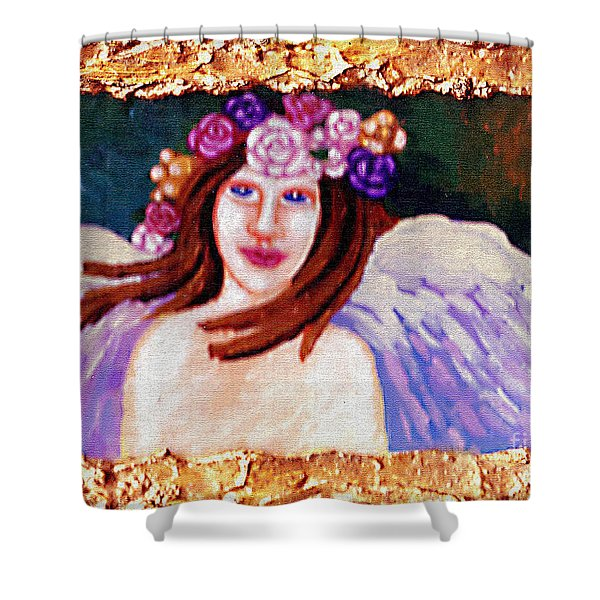 Sweet Angel Shower Curtain by Genevieve Esson