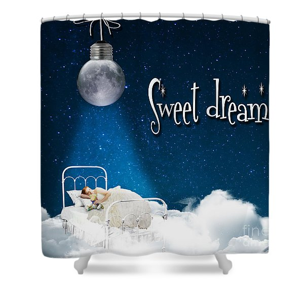 Sweet Dreams Shower Curtain by Juli Scalzi