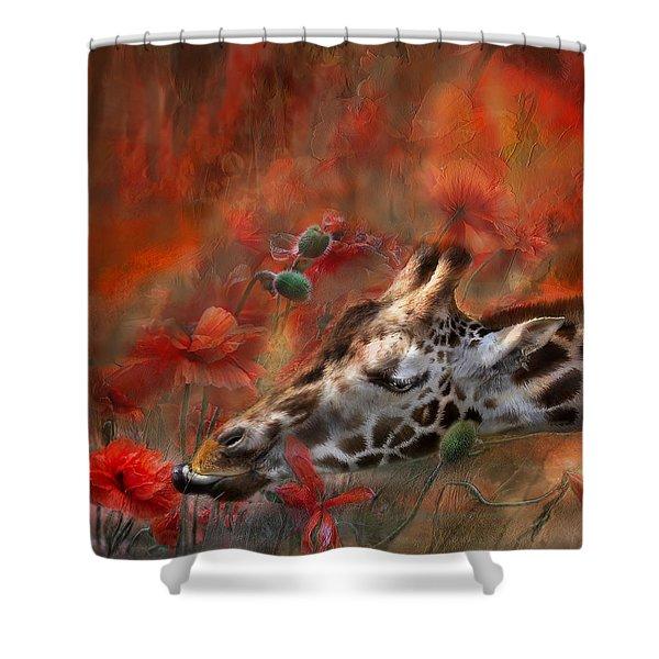 Sweet Taste Of Spring Shower Curtain by Carol Cavalaris