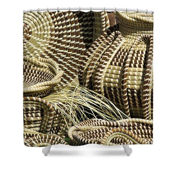 Sweetgrass Baskets - D002362 Shower Curtain by Daniel Dempster