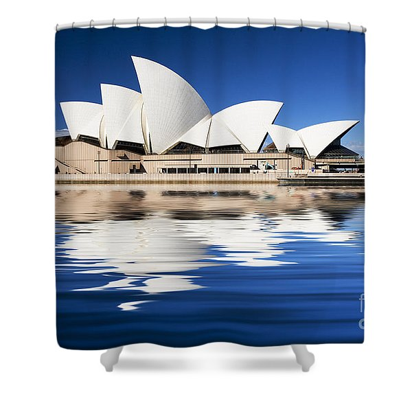 Sydney Icon Shower Curtain by Sheila Smart