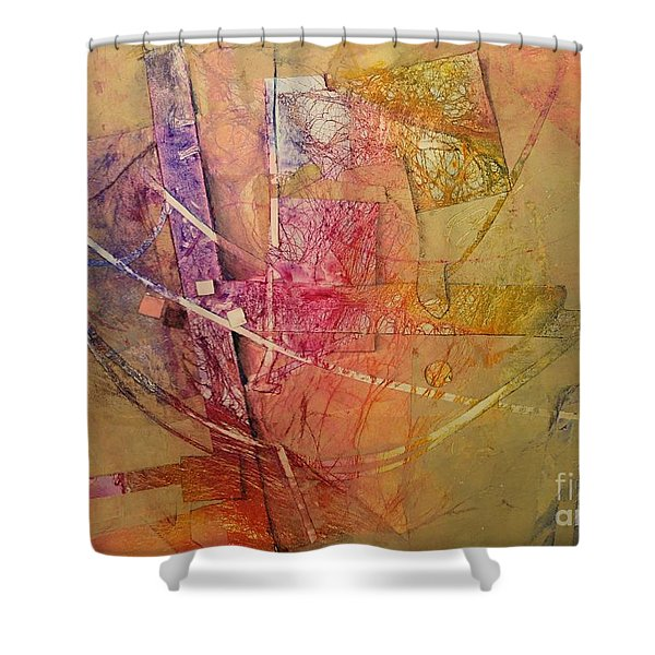 Symphony I Shower Curtain by Elizabeth Carr