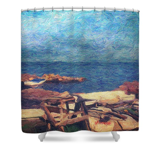 Symphony Of Silence Shower Curtain by Taylan Soyturk