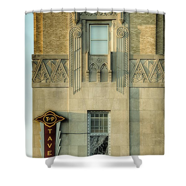 T and P Tavern Shower Curtain by Joan Carroll