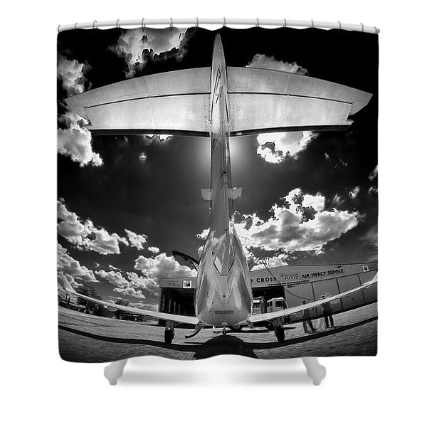 T Wing Shower Curtain by Paul Job