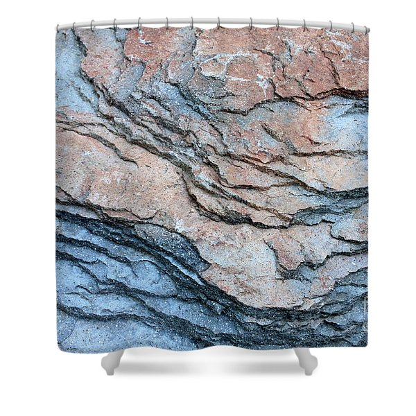 Tahoe Rock Formation Shower Curtain by Carol Groenen