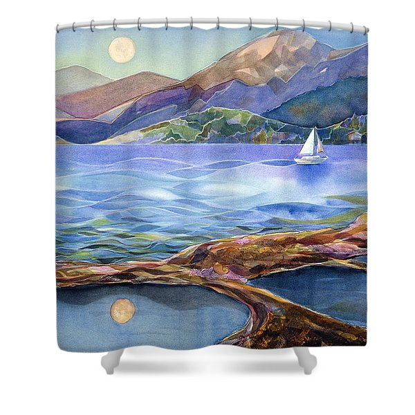 Tahoe Tides Shower Curtain by Jen Norton