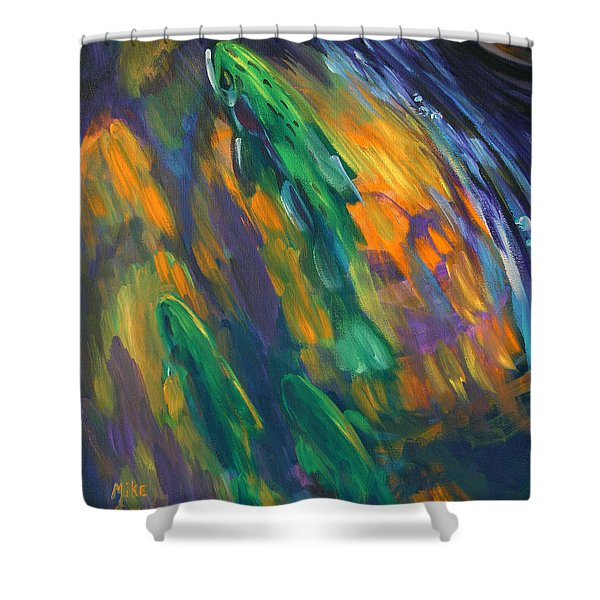 Tailwater Take Shower Curtain by Mike Savlen