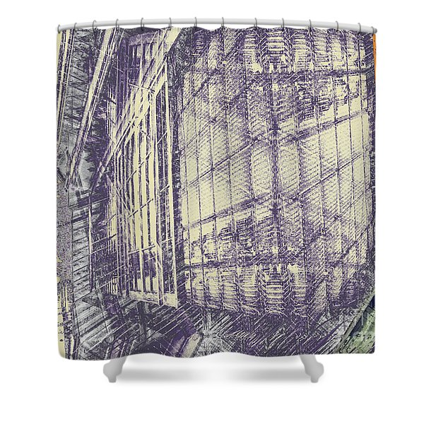 Take The Back Door Shower Curtain by CR Leyland