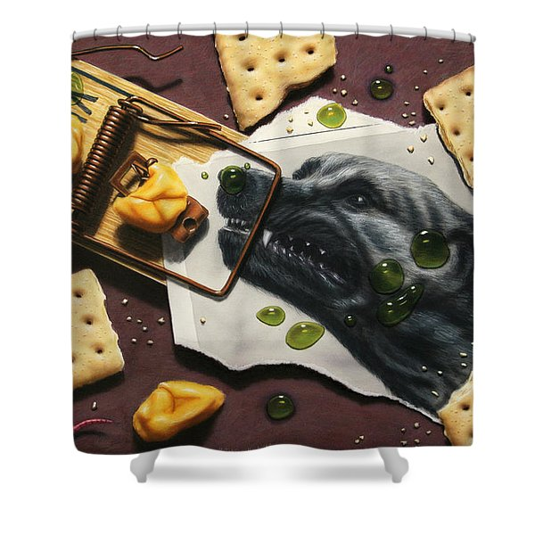 Taking the Bait Shower Curtain by James W Johnson