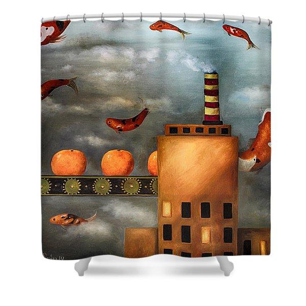 Tangerine Dream edit 2 Shower Curtain by Leah Saulnier The Painting Maniac
