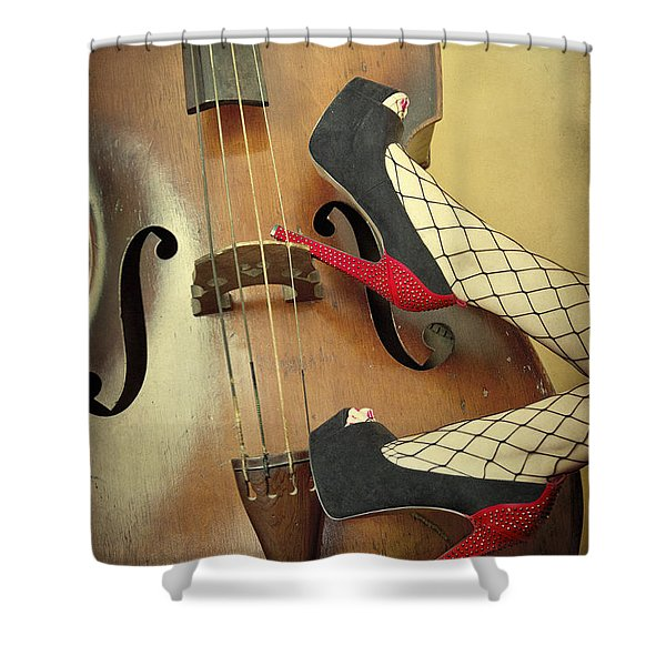 Tango For Strings Shower Curtain by Evelina Kremsdorf