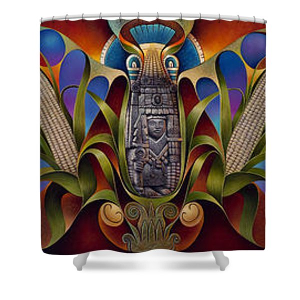 Tapestry Of Gods Shower Curtain by Ricardo Chavez-Mendez