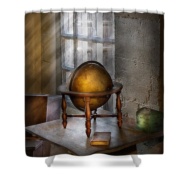 Teacher - Around the world Shower Curtain by Mike Savad