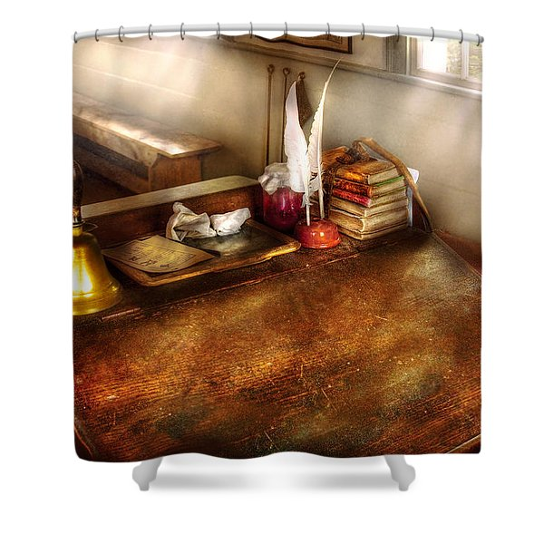 Teacher - The School Room Shower Curtain by Mike Savad
