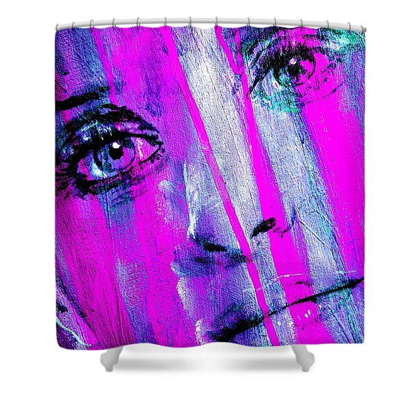 Tears - Purple Shower Curtain by Richard Tito