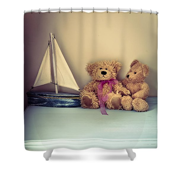 Teddy Bears Shower Curtain by Jan Bickerton