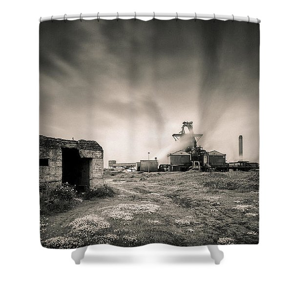Teesside Steelworks 2 Shower Curtain by Dave Bowman