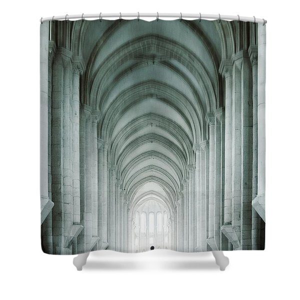 Temple Walker Shower Curtain by Carlos Caetano