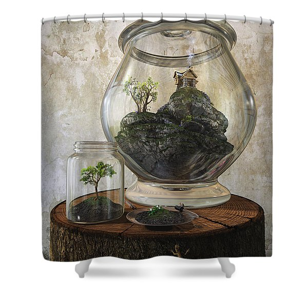 Terrarium Shower Curtain by Cynthia Decker